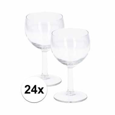 Witte wijn glazen doos van 24 stuks