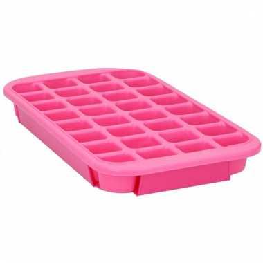 Xl ijsblokjes maken vorm roze 24 blokjes
