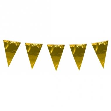 Xxl goudkleurige slingers 10 meter