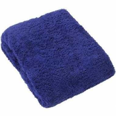 Zacht dekentje blauw 130 x 160 cm