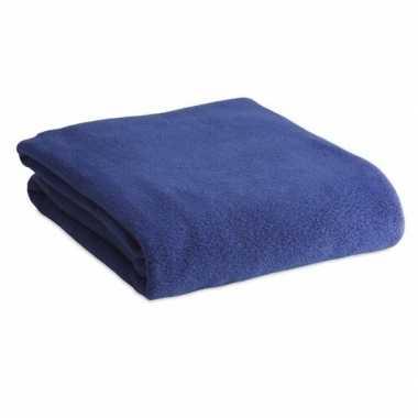 Zacht plaid/dekentje/kleedje blauw 120 x 150 cm