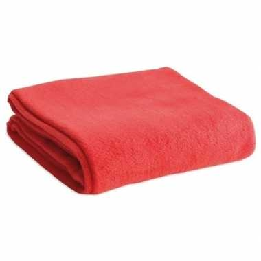 Zacht plaid/dekentje/kleedje rood 120 x 150 cm