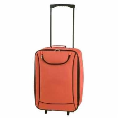 Zachte koffer handbagage oranje 1,1 kg