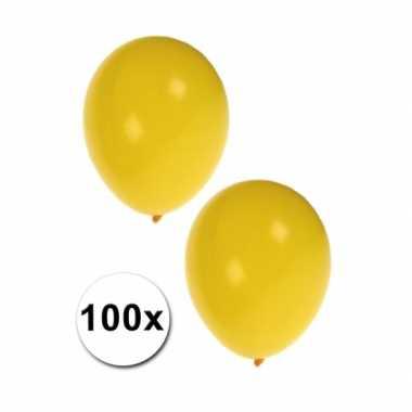 Zak gele ballonnen 100 stuks