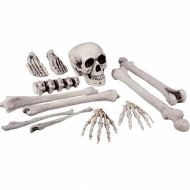 Zak met skelet botten 12 stuks