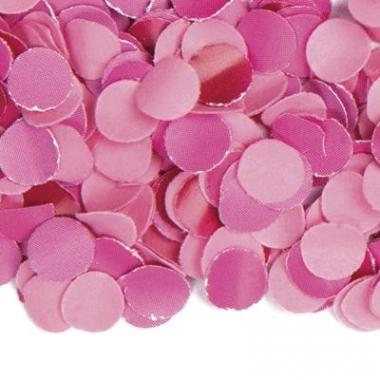 Zakje met 100 gram roze confetti