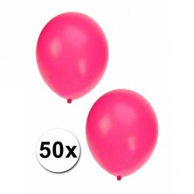 Zakje met 50 roze feest ballonnen