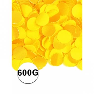 Zakje met 600 gram gele confetti