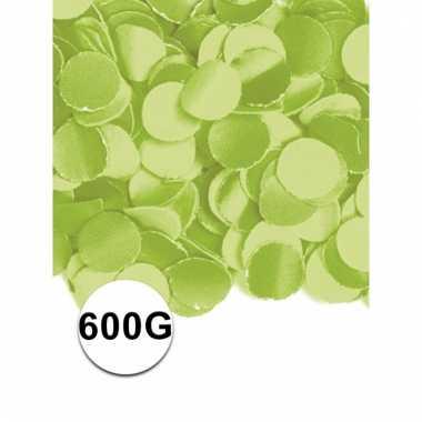 Zakje met 600 gram lime groene confetti