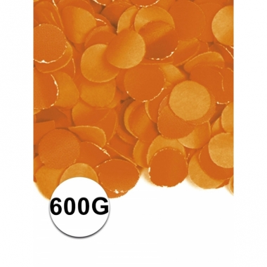 Zakje met 600 gram oranje confetti