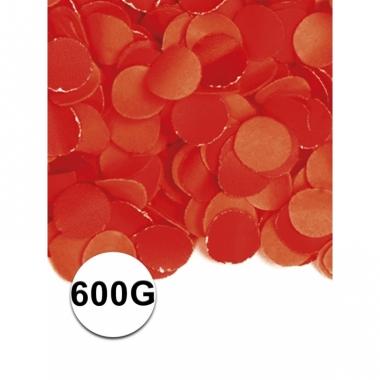 Zakje met 600 gram rode confetti
