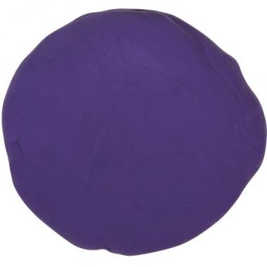 Zakje met paarse boetseerklei