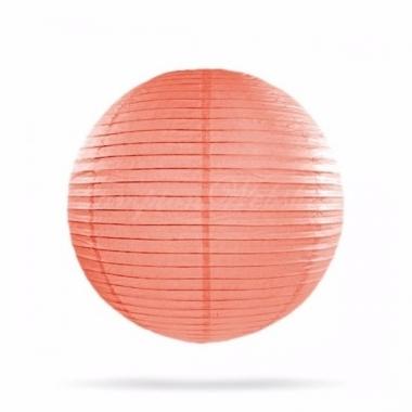 Zalm roze lampion rond 25 cm