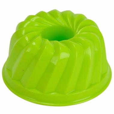 Zand gebak vormpje groen