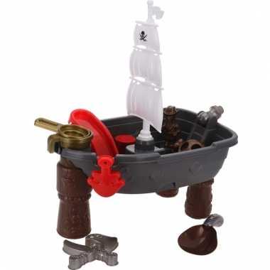 Zand speelgoed piratenschip met accessoires