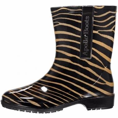 Zebra motief regenlaarzen voor dames