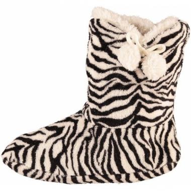 Zebra print sloffen voor dames