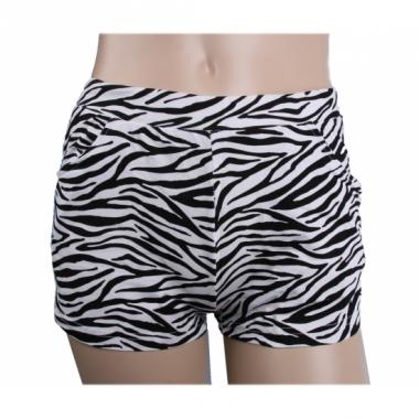Zebraprint hotpants voor dames