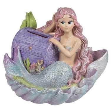 Zeemeermin spaarpotten met paarse schatkist