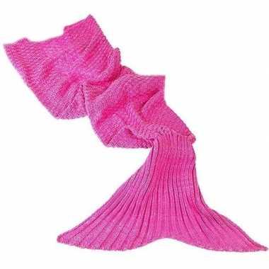 Zeemeerminnen staart dekentje roze 180 cm