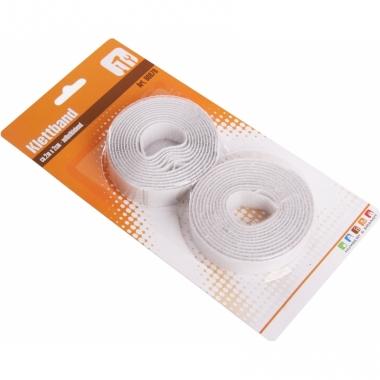 Zelfklevende klittenband wit 2 stuks