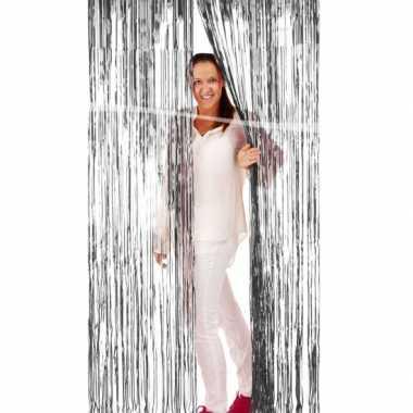 Zilver deurgordijn van folie