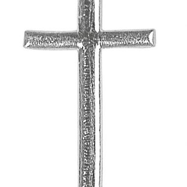 Zilver doop kruisje van was 4 cm
