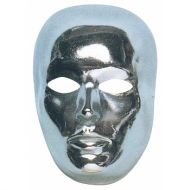Zilver mensen gezicht masker