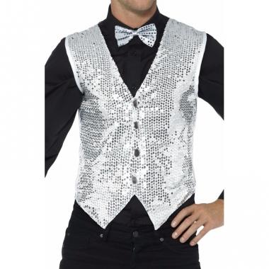Zilver pailletten vestje voor heren