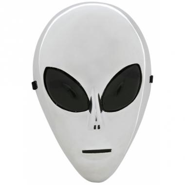Zilveren alien maskers