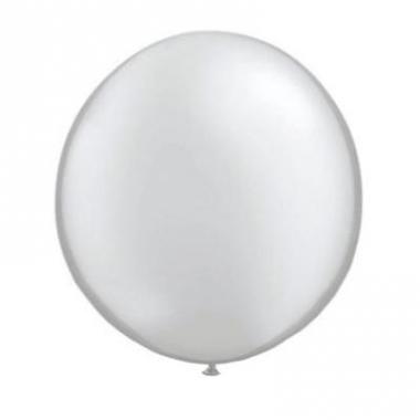 Zilveren ballon qualatex 90 cm