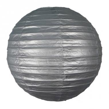 Zilveren bol lampion 25 cm