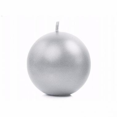 Zilveren bolkaarsen 8 cm