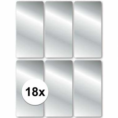 Zilveren cadeau labels 18 stuks