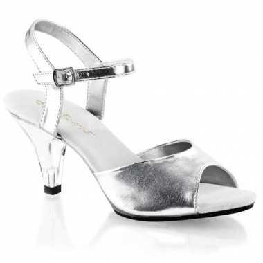 Zilveren dansschoenen met hak