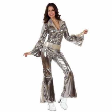 Zilveren disco verkleedkleding dames
