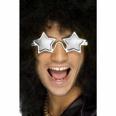 Zilveren discobril sterren voor volwassenen