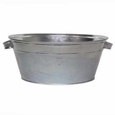 Zilveren drankkoeler/ijsemmer 11 liter rond