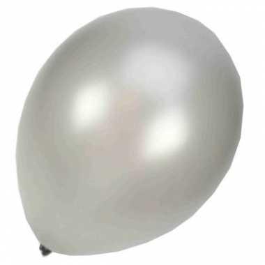 Zilveren glanzende ballonnen 50st.