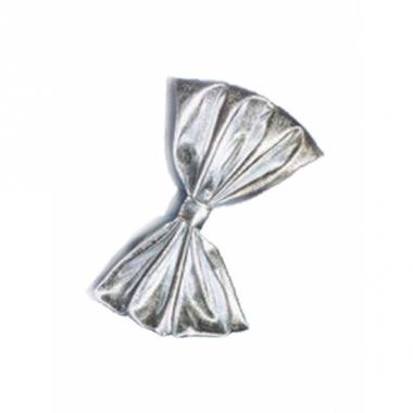 Zilveren glimmende vlinderstrik