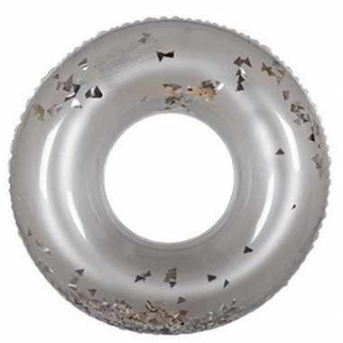 Zilveren glitter zwembanden 90 cm