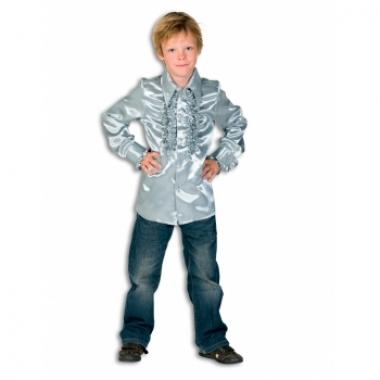 Zilveren hippie blouse jongens