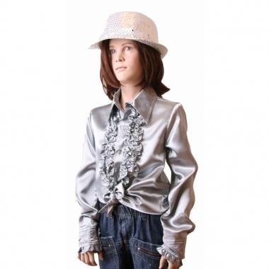 Zilveren hippie blouse meisjes