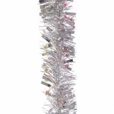 Zilveren kerstboomslinger 200 cm