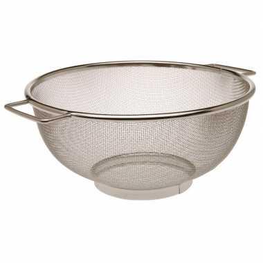 Zilveren keuken zeef rvs 23 cm