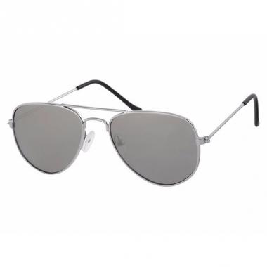Zilveren kinder pilotenbrillen model 3000