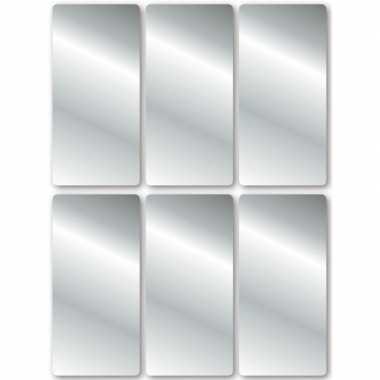Zilveren labels 18 stuks