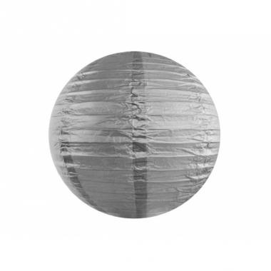 Zilveren lampion rond 35 cm