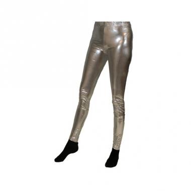 Zilveren legging voor dames