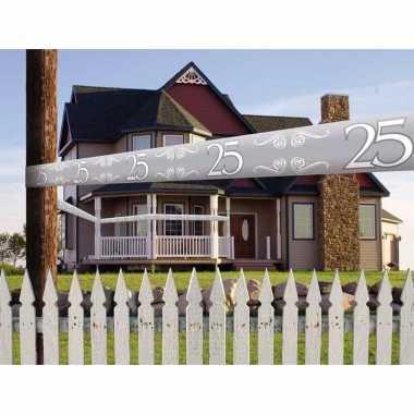 Zilveren markeerlint 25 jaar 15 meter